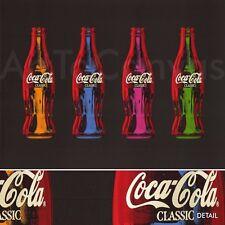 "31""x23"" COCA COLA POP ART I COKE OPEN HAPPINESS LIFE BEGINS HERE CANVAS"