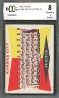1960 topps #413a KANSAS CITY ATHLETICS CL team card BGS BCCG 8
