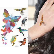 Butterflys Pappagallo Uccellino Kids Tatuaggio Temporaneo Body Art Tatuaggio Adesivo con finto per Bambini