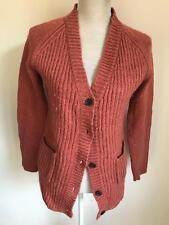 Glamorous Womens Russet Brown Wool Blend Cardigan Size 10 (55)