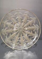 """RARE R Lalique Pissenlit Dish Coupe Low Bowl Sepia 12"""" Dandelion"""