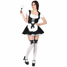 Flirty French Maid Glamour Dress Up Adults Womens Fancy Dress Costume