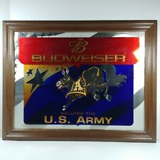 "Budweiser Salutes The U.S. Army Bar Mirror Rare 28"" x 22"" Framed Us Army"