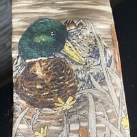 Ducks Unlimited Vintage Neck Tie Silk Made In The USA Hunting NOS With Tags 58x4