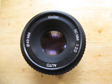 Vivitar Automatic 50mm 1:2 Lens 49mm Front Mount Manual Lens K Mount 90205833
