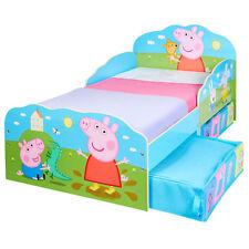 Kinderbett Schubladen Peppa Pig 140x70cm Jugendbett Juniorbett Kinder Bett Holz
