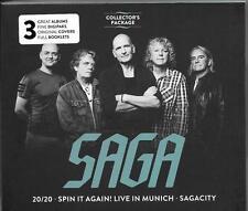 4 CD SAGA `20/20 / Spin It Again: Live In Munich / Sagacity` Neu/New