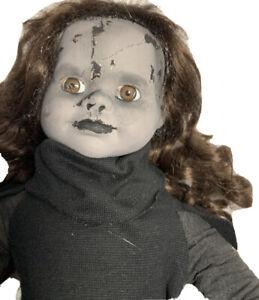 VAMPIRE OOAK BISQUE DOLL Creepy gothic horror Halloween Prop Evil Possessed VADA