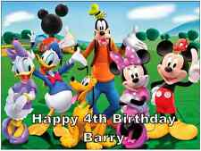 Mickey Mouse Clubhouse Personalised Cake Topper Edible Wafer Paper A4