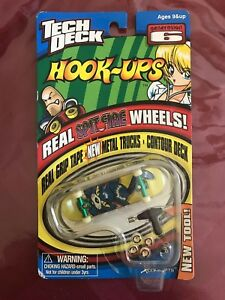 Rare Tech Deck Finger board Skateboard Generation 6 Hook-Ups Cat Spitfire wheels