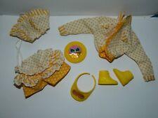 VTG Vintage 1980's California Dream Barbie Teresa Outfit Lot Yellow & White