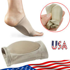 US ARCH SUPPORT GEL ORTHOTIC INSOLE PLANTAR FASCIITIS FOOT 2 PC