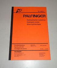 Teilekatalog / Spare Parts List Palfinger Krane G 100 L Stand 01/1993
