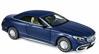 NOREV 183472 MERCEDES MAYBACH S650 CABRIOLET model car dark blue met  2018  1:18