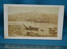 1860/70s CDV France Carte De Visite Photo Marseille Le Vieux Port