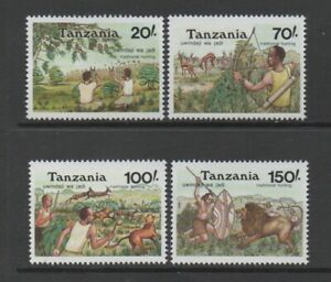 TANZANIA 1992 TRADITIONAL HUNTING (SG1399/1402) *VF MNH*