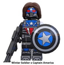 Winter Soldier x Captain America New Minifigure Lego MOC Version DC Comic Gift