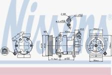 Compresor Aire Acondicionado - Nissens 89332