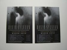 David Sylvian - 2 Promo Flyers From the 'Implausible Beauty' Tour 2012 - Mint