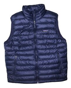 Patagonia Down Sweater Vest Men's Large Navy Blue Brand New