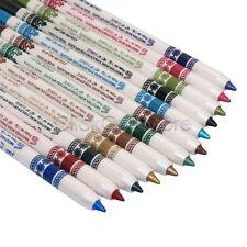 12 Color Glitter Lip Eye Liner Eyeshadow Pencil Pen Cosmetic Makeup Set US