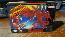 SUPER METROID for Super Nintendo Entertainment System 1994 Complete in box ORIG