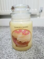 YANKEE CANDLE LARGE JAR, FROSTING