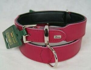 Hunter Softie Hundehalsband Nubuk Leder Farbe Pink