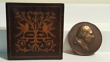 Bronze Louis XVIII medal struck by French mint 1822 in inlaid box