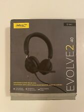 Jabra Evolve2 40 Stereo Headset (UC, USB-A) - Black, NEW, boxes have some wear