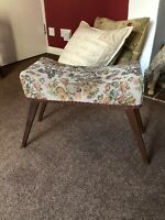 Foot Stool Vintage Stool Dressing Table Piano Seat Curved Seat Tapestry Seat