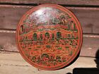 Antique BURMESE Lacquer Round Wood Betel Nut Box Container Divided Indonesian