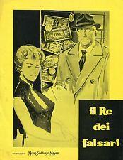 BROCHURE,1962,Il re dei falsari (Le cave se rebiffe),JEAN GABIN,Grangier.Carol