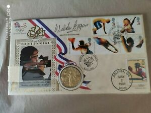 1996 GB Olympic Games - signed Malcolm Cooper + medal