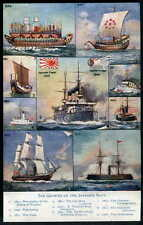 Japanese Pre - 1914 Collectable Sea Transportation Postcards