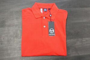 Sergio Tacchini ST 020 Polo Mens Poloshirt Shirt Herren vintage red Größe L