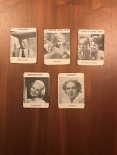 📽 MOVIE MOGULS (Lot of 5 famous Actors). STAR AGENT CARDS 1970-73. Hollywood