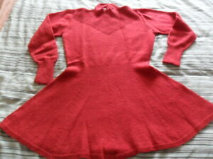 Marion Foale Hand Knitted - Red Tunic - Size 12