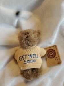 "Boyd's Bears ~ Mini Message Bear ~ ""Get Well Soon"" - Mona ~ #567012 ~ New w/tag"