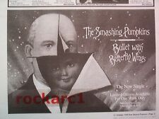SMASHING PUMPKINS Bullet with Butterfly Wings UK Press ADVERT 12x8 inches