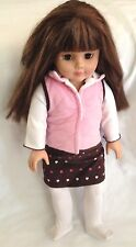 "Modern Brown Eye 18"" Madame Alexander Doll in Pink 3 Piece Outfit"