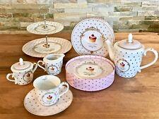 16tlg.Kaffeeservice Geschirrset Tafelservice Porzellan Cup Cake Gold Geschenkbox