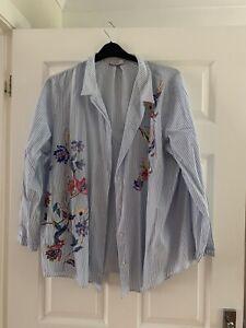 Per Una Size20 Blue Stripe Blouse