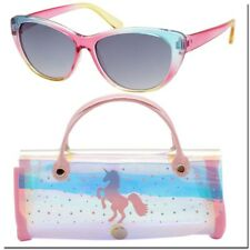 Girls Sunglasses 6 - 12 Kids Sunglass For Girls With Case Unicorns Child Size