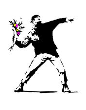 Banksy Love Is In The Air  Canvas 16 x 20   #5386