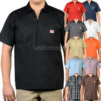 Ben Davis Short Sleeve Shirts Men POCKETS Stripe, Plaid, Color half zipper shirt
