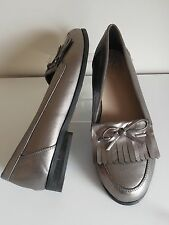 Grey Metallic Loafers Size 9 Standard Fit BNWT From Evans