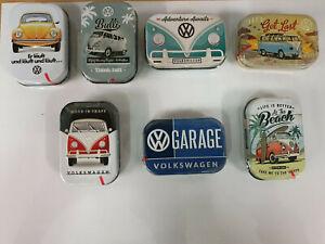 VW  Retro  Blechdose gefüllt mit Pfefferminzdragees verschiedene Motive 00008770