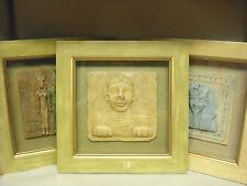 Set of 3 Egyptian Shadow Box Wall handing 12 ¼ x 12 ¼ Good condition Sphinx