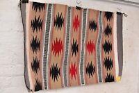 "Vintage native american textile weaving Navajo indian rug 35x24"" Atq eye dazzler"